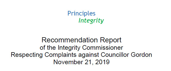 Principles of Integrity Conclusion Report - Bill Gordon