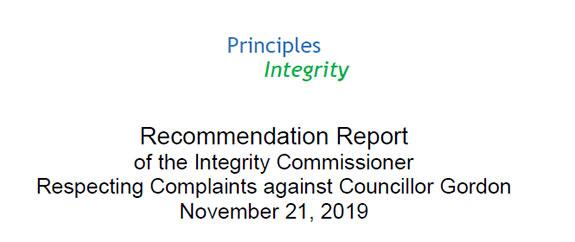 Principles of Integrity Conclusion Report - Bill Gordon